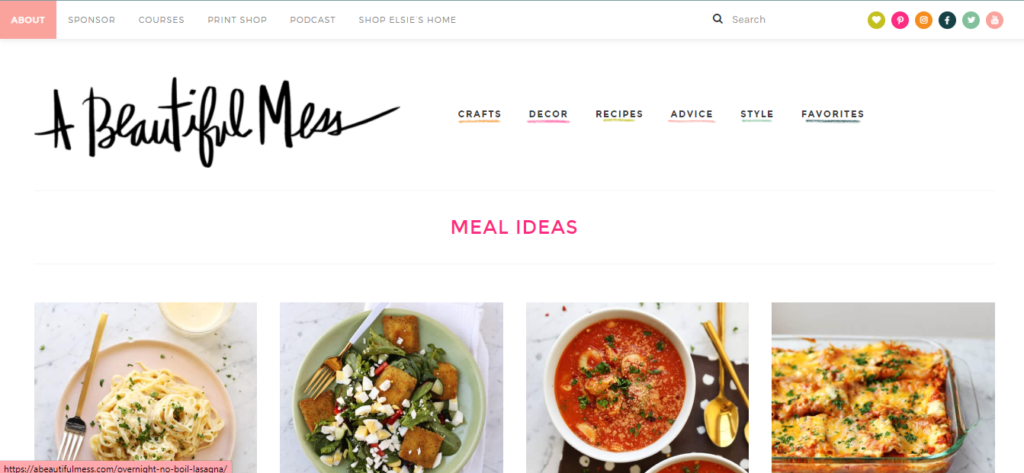 a beautiful mess category meal ideas
