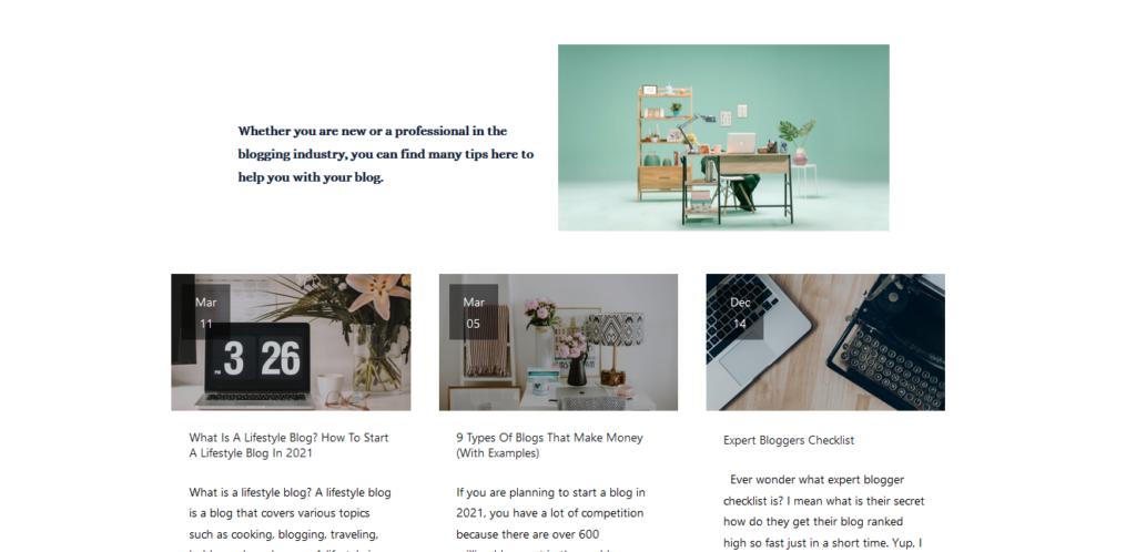 blogituplife.com blogging category page