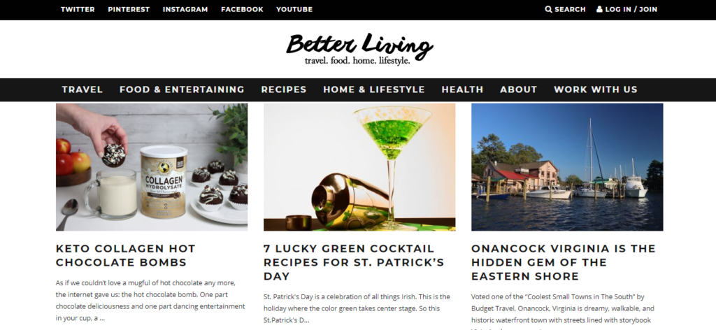 one better living home page