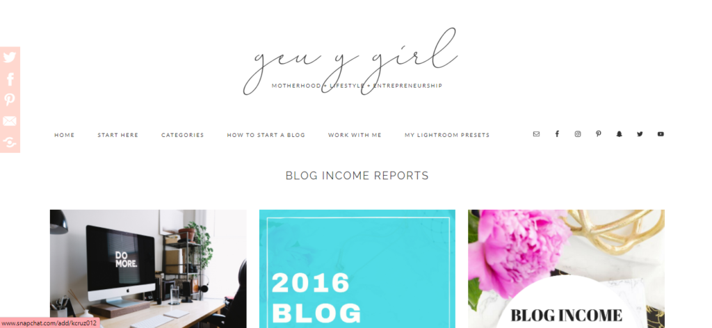 lost gen y girl category blogging blog income reports