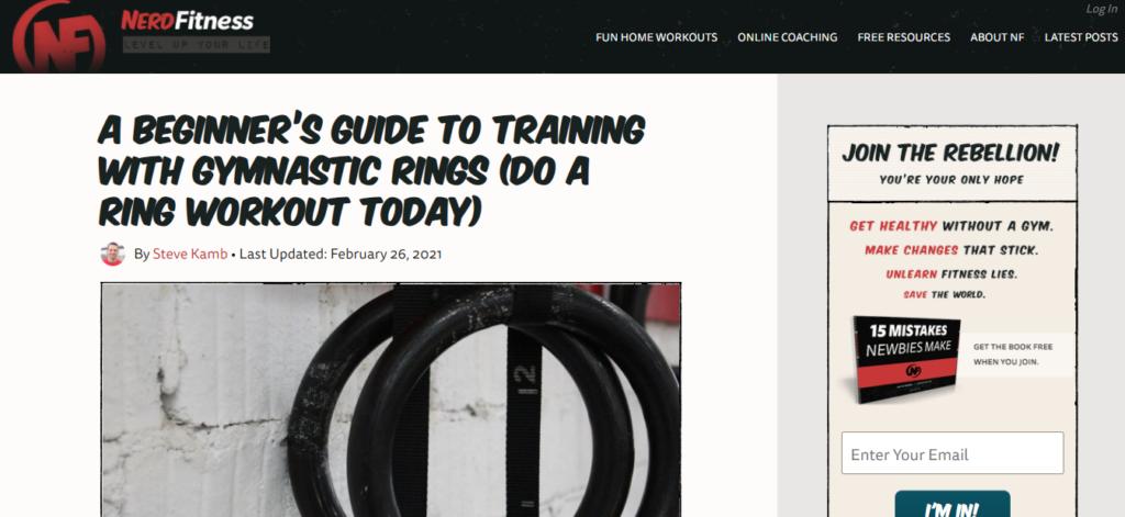nerd fitness blog post